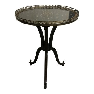 Black & Gold Painted Side Table