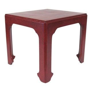 Baker Asian Modern Side Table For Sale