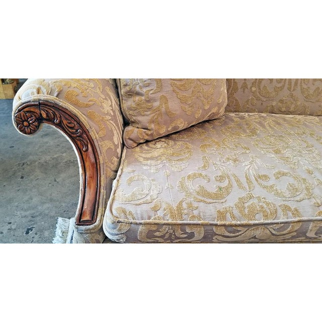 Americana 19c Chippendale Style Camel Back Sofa For Sale - Image 3 of 12