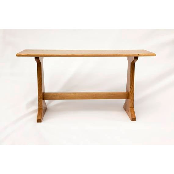 Japanese Style Trestle Table & Bench - A Pair - Image 9 of 11