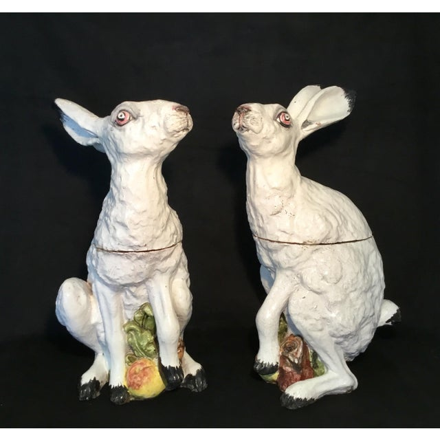 Ceramic Italian Bunny Tureens - a Pair For Sale - Image 7 of 13