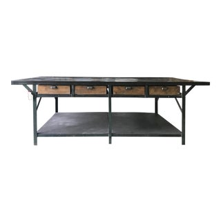 1910 French Antique Tannery Table For Sale