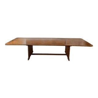 1910s English Traditional Oak Haberdashery Table For Sale