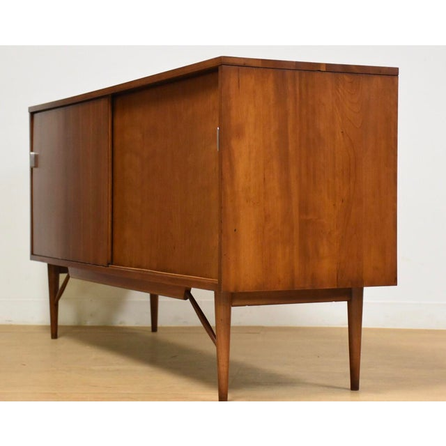 1950s Solid Cherry Credenza by Kipp Stewart and Stewart MacDougall For Sale - Image 5 of 11