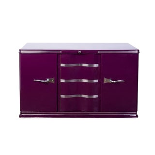 Luxe Art Deco Sideboard in Lilac For Sale