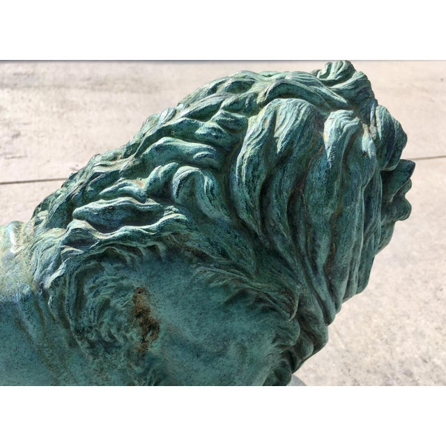 Late 19th Century Paul-Edouard Delabrierre Bronze Lions - a Pair For Sale - Image 5 of 13