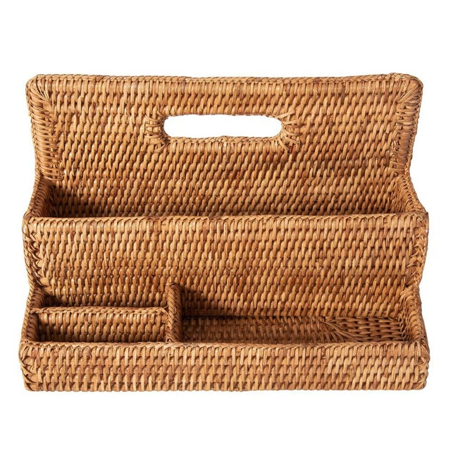 Artifacts Rattan Standing Stationary Sorter in Honey Brown For Sale In Houston - Image 6 of 11