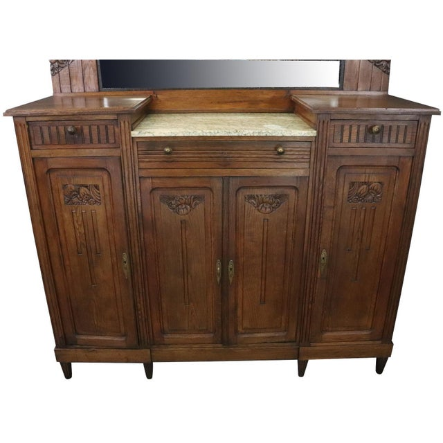 1920 Art Deco Mid Century Modern French Server For Sale - Image 4 of 11