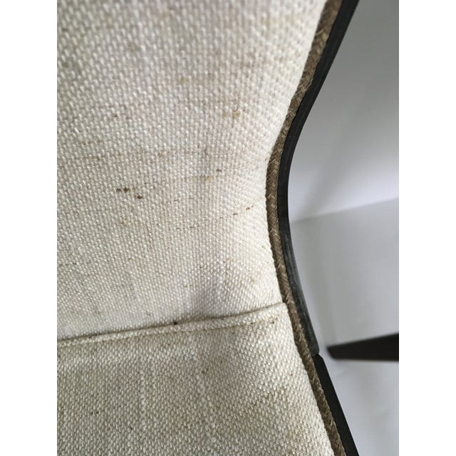White Mid-Century Style Wood Wrapped Accent Chairs- a Pair For Sale - Image 8 of 13