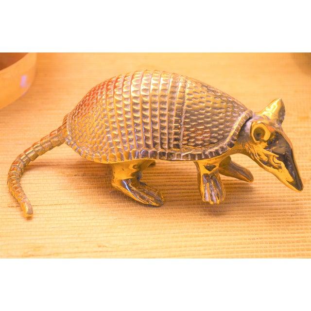 Vintage Solid Brass Armadillo Figurine - Image 6 of 11