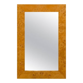 Dramatic Vintage Mirror in Olivewood For Sale