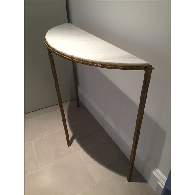 Marble & Gold Half-Circle Console - Image 4 of 5