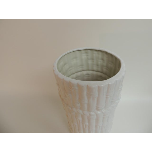 Vintage Faux Bamboo Ceramic Umbrella Stand - Image 3 of 4