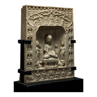 Northern Qi Buddhist Stele For Sale