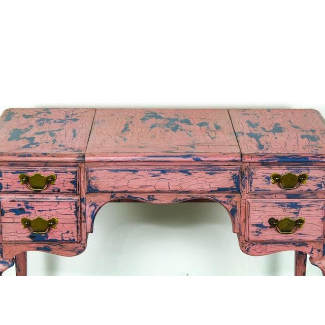 French Provincial Vanity, Provincial Dressing Table, Shabby Chic Vanity Desk, Pink Vanity, Mid Century Vanity Desk, Vintage Vanity For Sale In Miami - Image 6 of 12