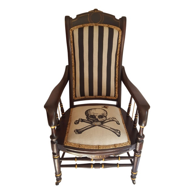 Skull and Bones Accent Chair - Image 1 of 8