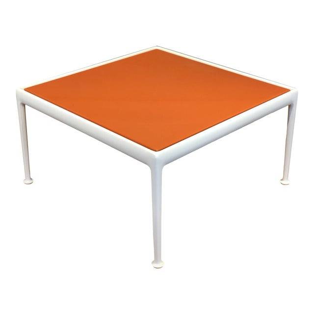 Richard Schultz for Knoll Orange and White Enamel Top Side/Coffee Table For Sale