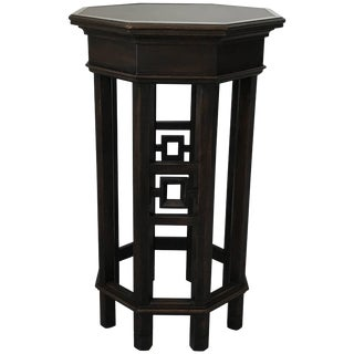 1960s Asian Fretwork Octagon Side Table Plant Stand For Sale