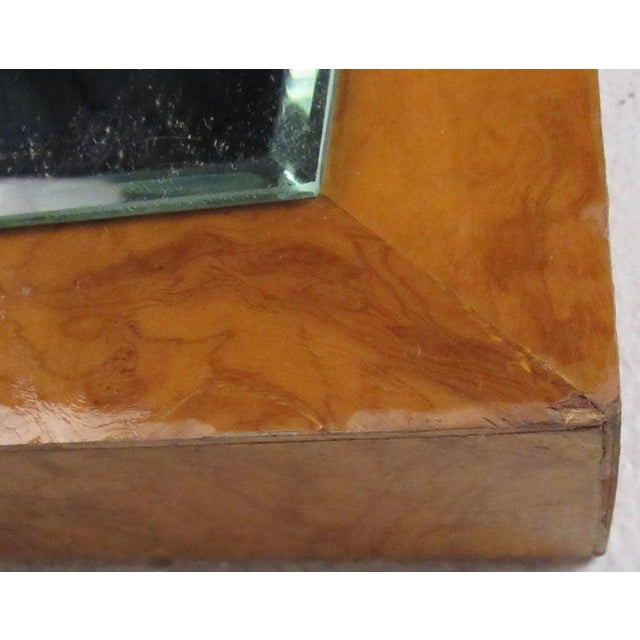 1970s Vintage Modern Burlwood Mirror in the Style of Milo Baughman For Sale - Image 5 of 11