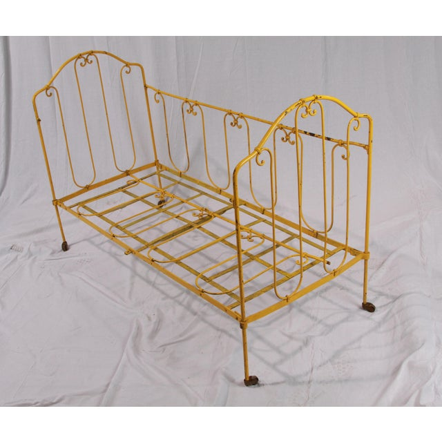 Yellow Vintage French Yellow Daybed For Sale - Image 8 of 8