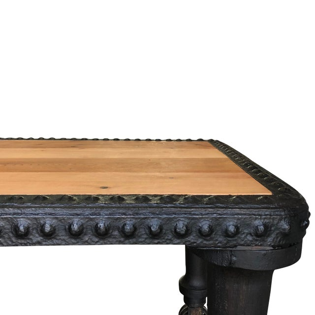19th Century Antique French Industrial Table For Sale - Image 4 of 6