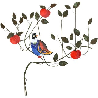 C. Jeré Bird in a Tree Enameled Wall Sculpture For Sale