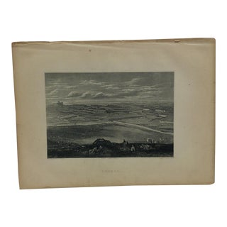 "Antique Original Engraving on Paper ""Bethel"" by J. Cramb Circa 1890 For Sale"