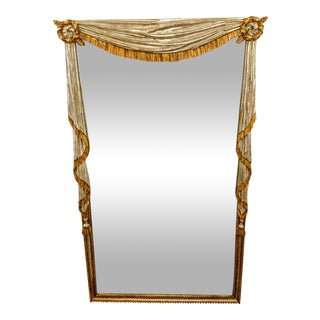 Neo-Classical Silver & Gold Gilt Mirror For Sale