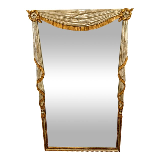 Neo-Classical Silver & Gold Gilt Mirror - Image 1 of 8