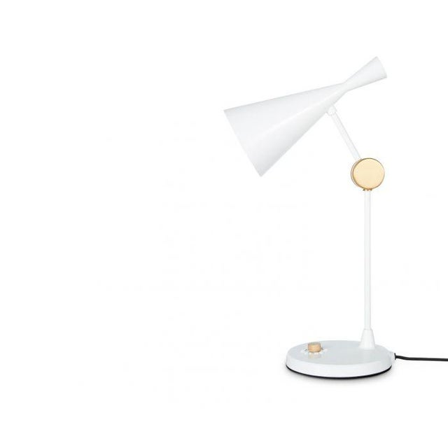 Indian Tom Dixon Beat Table Light in White For Sale - Image 3 of 9