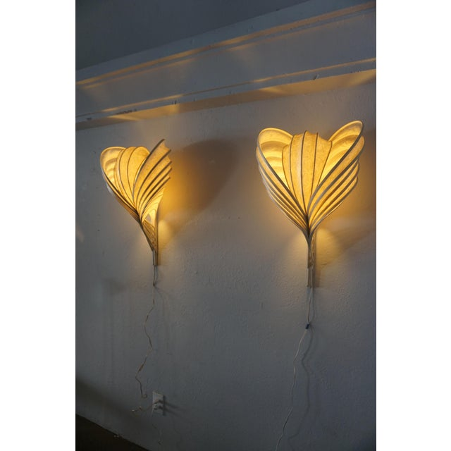 Antique White Wall Sconces by William Leslie - a Pair For Sale - Image 8 of 9