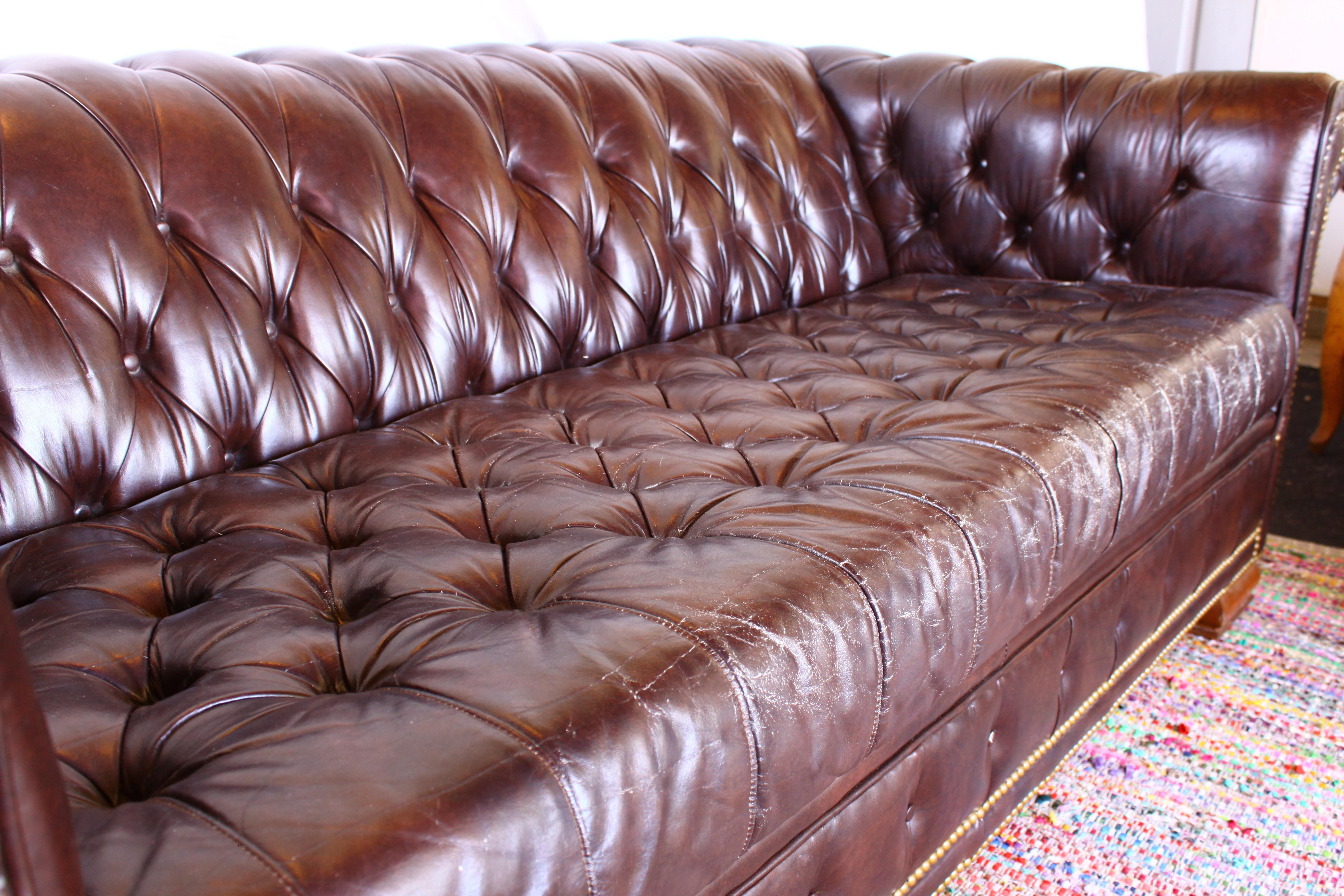 Chesterfield Sofas vintage schafer bros chesterfield sofa chairish