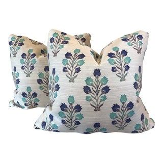 Floral Motif Pillows - A Pair