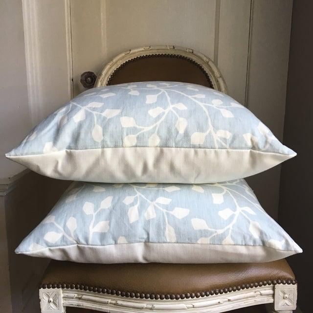 Powder Blue Linen Pillows - A Pair - Image 3 of 4