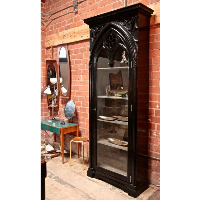 Gothic Italian 19th C. Gothic Cabinet For Sale - Image 3 of 11