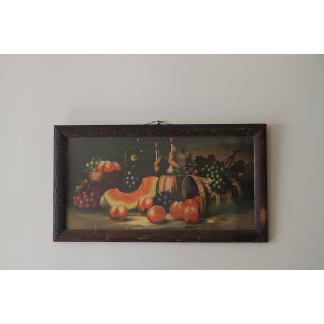 Antique 19th C. Watermelon, Fruit & Wine Painting For Sale In New York - Image 6 of 11