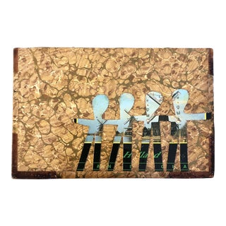 "Original Contemporary Artist Wayne Cunningham ""Hands Across America "" Collage For Sale"