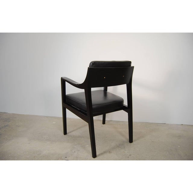 Pair of Dunbar Chairs in Black Leather For Sale - Image 5 of 10