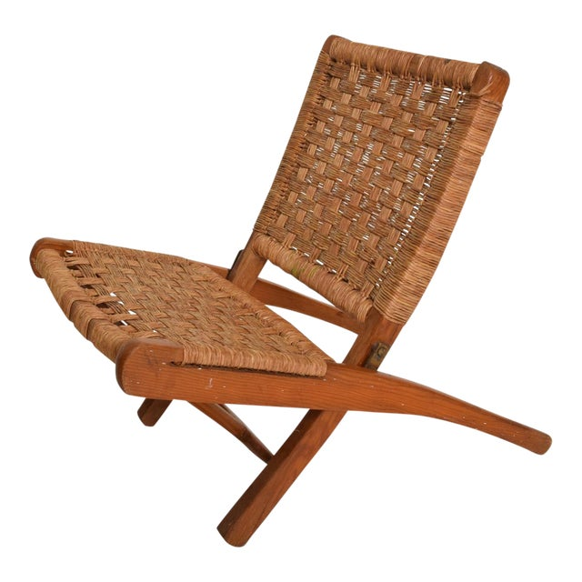 Mexican Modernist Small Folding Chair After Clara Porset For Sale