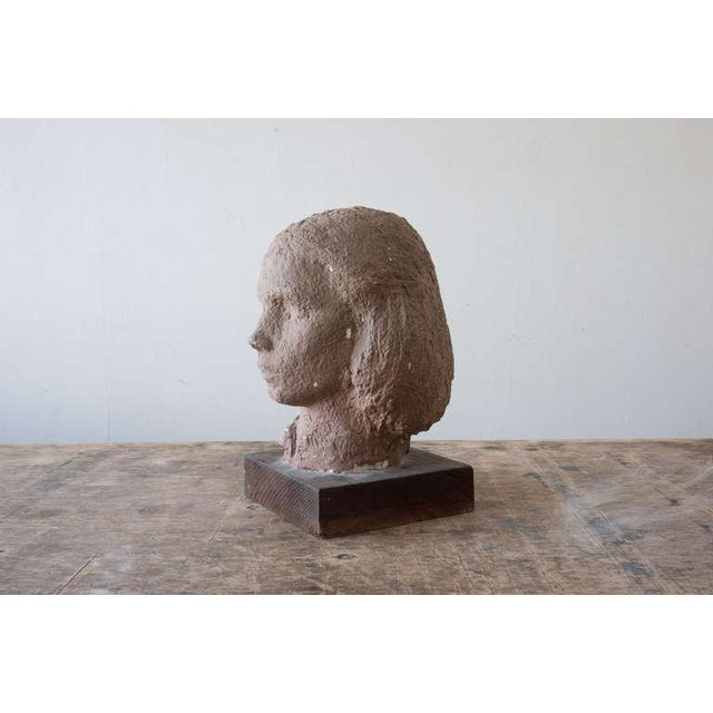 Neoclassical Gaetano Cecere Plaster Sculpture Wood Base #37 For Sale - Image 3 of 6