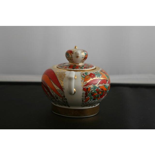 Russian Lomonsov Porcelain Rooster Teapot For Sale - Image 5 of 7