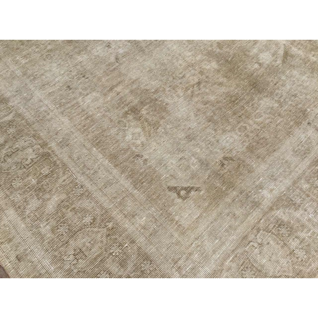 Oversized Antique Distressed Hand Knotted Oushak Rug For Sale - Image 9 of 11