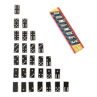 Halsam Dominoes Set Circa 1950s For Sale