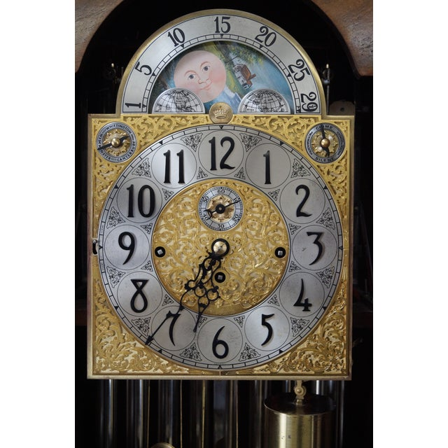 Herschede 9 Tube Mahogany Bombe Tall Case Grandfather Clock For Sale In Philadelphia - Image 6 of 10