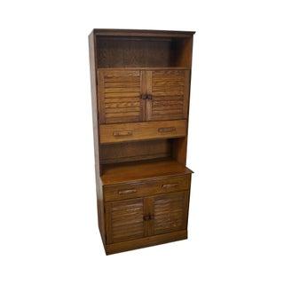 Brandt Ranch Oak 2 Piece Cabinet For Sale