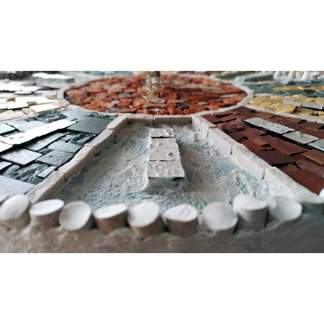 Modern Vintage Style Mosaic Wall Clock For Sale - Image 3 of 7