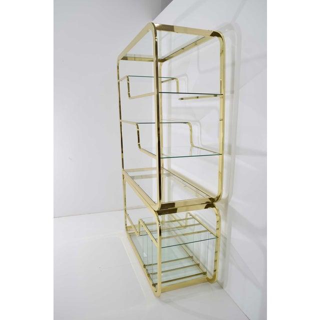 Mid-Century Modern Milo Baughman Brass Finish Étagère For Sale - Image 3 of 9