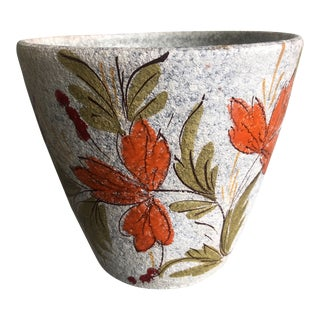 Mid Century Italian Painted Planter Pottery For Sale