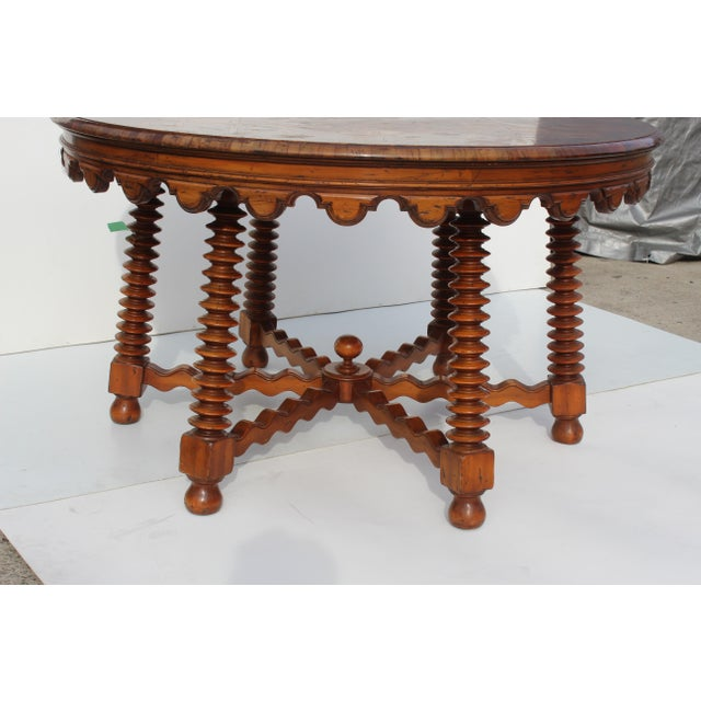 1980s Spanish Parquetry Table For Sale In San Diego - Image 6 of 8