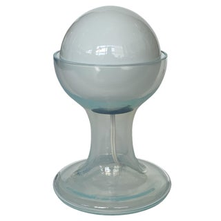 Carlo Nason Opalescent Murano Glass Petite Table Lamp for Mazzega For Sale